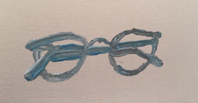 blue:white:grey acrylic-acrylic paper